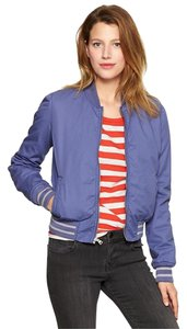 Gap Bomber Lined Military Blue Jacket