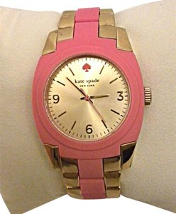 Kate Spade Kate Spade Wrist Watch Skyline 1YRU0163 Pink Silicon Gold Ladies NWT