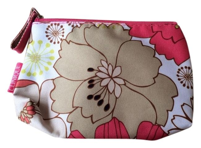 Item - Pink White Grey and Green Flowered Make Up Cosmetic Bag