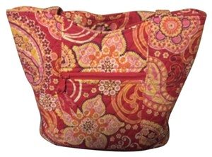 Vera Bradley Tote in Red/Orange/Pink