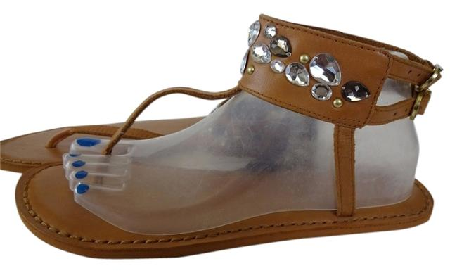 Item - Brown W Jewels Ankle Strap 8-9 W/ Tags Sandals Size US 8