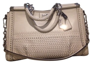 Coach Satchel in Silver/Parchment