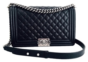 Chanel Caviar Leather Quilted Cross Body Bag