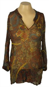 Lucky Brand Sheer Top Multi Color