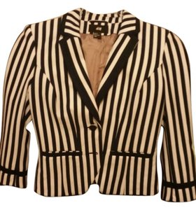 H&M Navy blue and white Blazer
