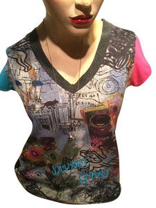 LULU-H Cats Wings T Shirt Black Gray Blue Red Yellow Turquoise Orange White
