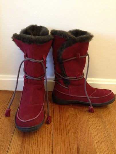 Camper Faux Fur Lace Winter Snow Red Boots
