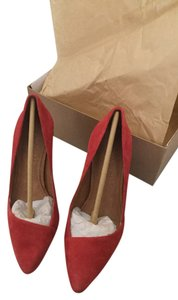 Madewell Heels Classic Stiletto Red Pumps