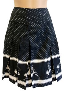 Liz Claiborne New Classic Unique Skirt Black with White design