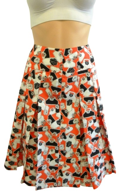 Liz Claiborne One-of-a-kind Skirt Black/White/Tangerine