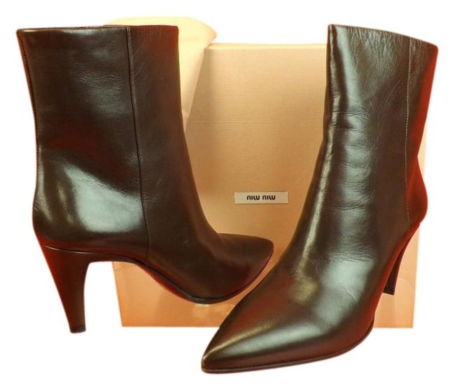 Item - Brown 5t8262 Coffee Calf Leather Slouch Mid Heel Ankle Boots/Booties Size EU 40 (Approx. US 10) Regular (M, B)