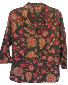 Nomadic Traders Top black with floral print