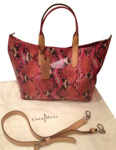 Cole Haan Tote in Punch Pink/ Peach Multi