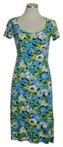 Boden short dress Green Multi Stretch Knit Empire Waist on Tradesy
