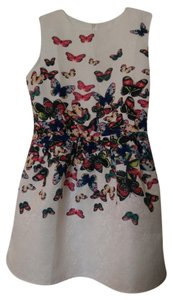 Other Butterfly Aline Daytime Chic Red Tone Print Animal Print Sleeveless Dress