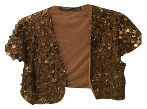 Betsey Johnson Top Copper sequins