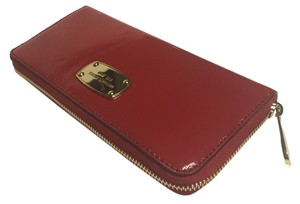 Michael Kors Wallet Patent Leather Red Clutch