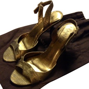 Anne Klein Metallic Gold Pumps