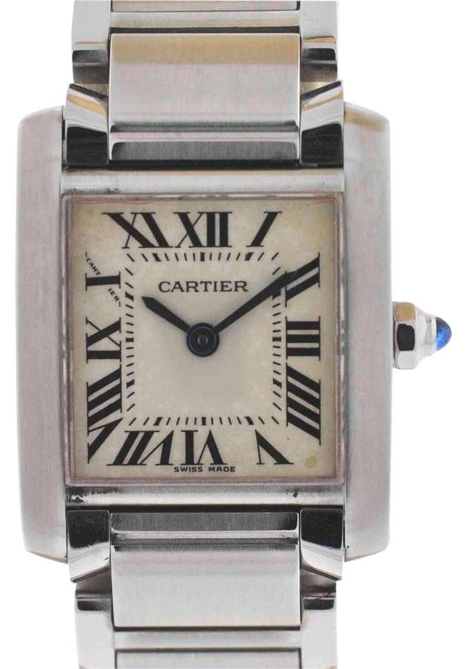 5b4fa48e6203f Cartier Cartier Tank Francaise Stainless Steel Ladies Watch 2384 Image 0 ...