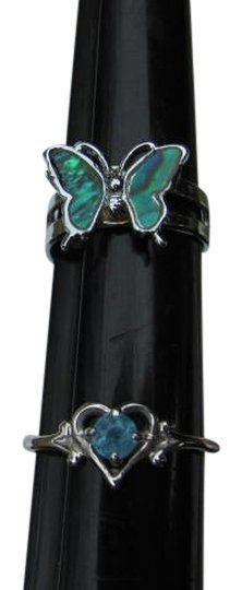 Other SET OF 2 RINGS BUTTERFLY HEART