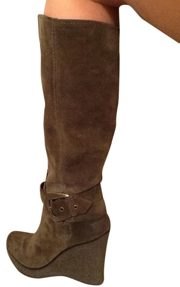 Nine West Boots/Booties Olive Green Suede Wedge Boots/Booties West 79e272