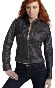 Kenna-T Leopard Leather Motorcycle black, leopard-lined Leather Jacket