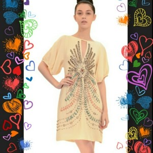 Nanette Lepore Bea Beaded Silk Dress