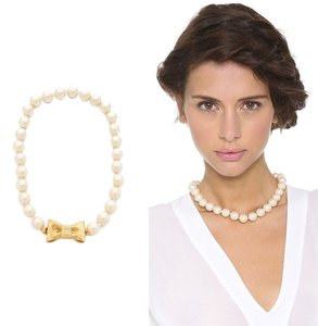 Kate Spade Classic Kate Spade All Wrapped Up Necklace Pearls NWT Always Perfect Classic Style!