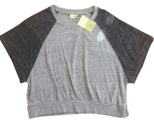 Alternative Apparel Crop Boyfriend Athleisure T Shirt Eco Black/grey