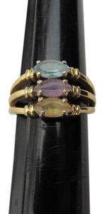 OTHER 3 PRONGS COLORED STONES RING
