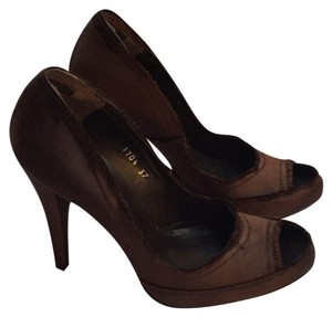 Pedro Garcia Java (Coffee) Satin Platforms
