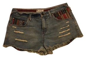 Free People Cut Off Shorts Denim pink purple