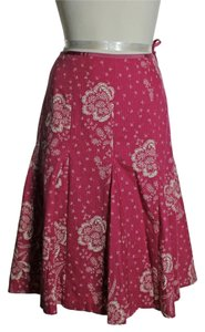 J.Crew Flared Lined Skirt Pink