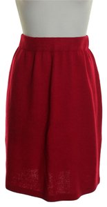 St. John Santana Knit Pull-on Mini Skirt Red