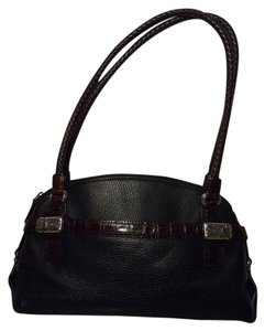 Brighton Leather Tote Sachel Satchel in black & brown