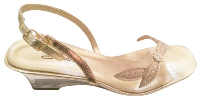 Item - Clear/Gold - / Wedges Size US 7 Regular (M, B)