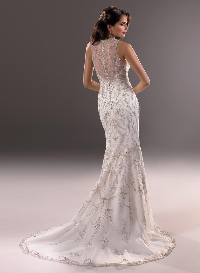 c4e99008865 Maggie Sottero Ivory Gold Blakely Wedding Dress Size 14 (L) - Tradesy