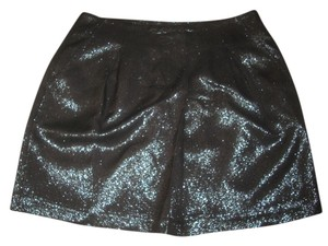 Vince Skirt Metallic Black, iridescent