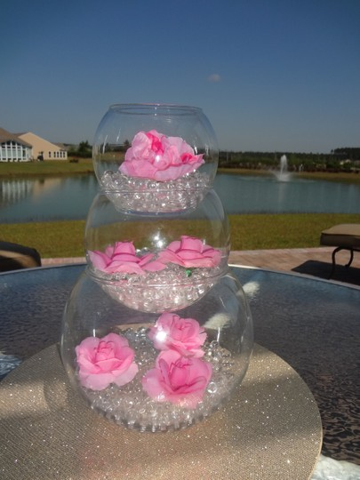 Yellow Water Pearl Centerpiece Fill Out Vase Filler