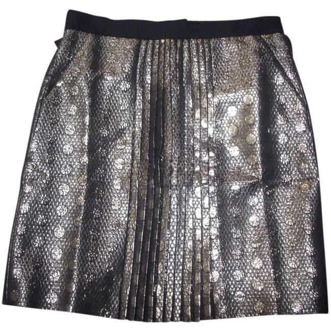 J.Crew Skirt J.Crew front-pleated metallic skirt