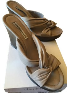 Charles David Comfortable Casual Taupe Wedges