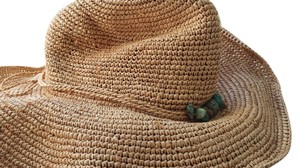 florabella Straw Rattan Cowboy Hat with Turquoise