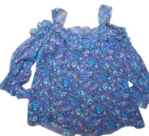 Nanette Lepore Top Purple, Blue Floral