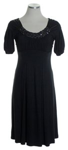 Joie short dress Black Jersey Knit Stretch Beaded on Tradesy