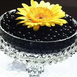 Black - Water Pearl Wedding Centerpiece Fill Out Vase Filler