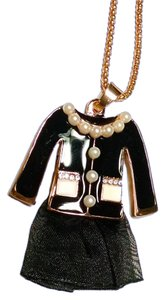 Betsey Johnson Betsey Johnson Shirt Skirt Black Outfit Necklace Jewelry J1363