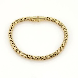 Tiffany & Co. Tiffany Co. 18k Yellow Gold Woven Chain Link Bracelet 7.25 Long