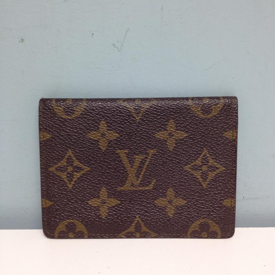 Louis Vuitton #3191b Monogram Bifold Credit Card Business Card Id ...
