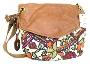Fossil Mulitcolored Leather Flap Cross Body Bag