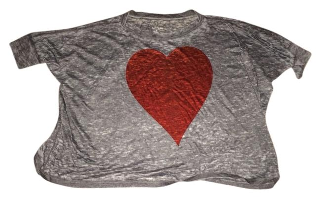 Go Jeans T Shirt Heather Grey And Red